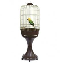 Imac Lory АЙМАК ЛОРИ клетка для попугаев с подставкой, пластик, латунь