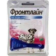 Merial FRONTLINE Spot-On L - капли на холку для собак 20-40 кг