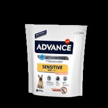 Advance ADULT Mini Sensitive Эдванс для собак мини пород с чувствительным пищеварением лосось и рис
