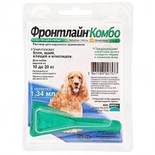 Frontline Combo (Фронтлайн Комбо) M - средство от блох и клещей для собак весом 10-20 кг