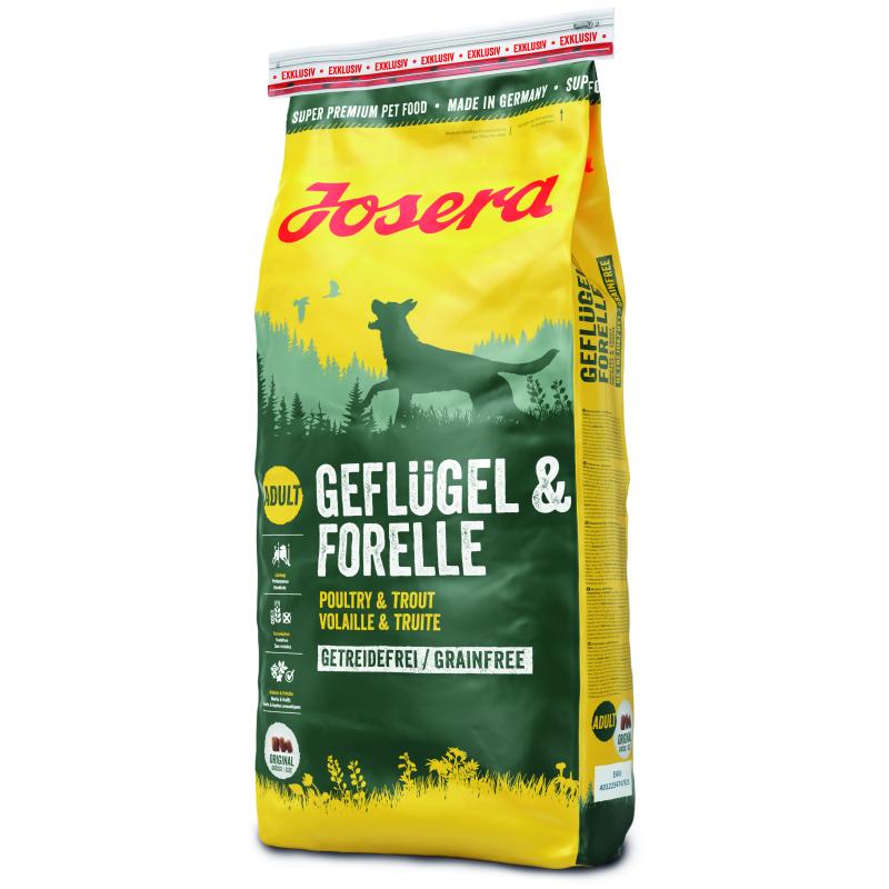 Josera Geflugel & Forelle - беззерновой корм для взрослых собак с птицей и форелью