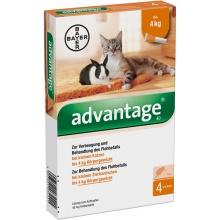 Bayer ADVANTAGE Cat 40 - средство от блох для кошек менее 4 кг