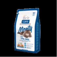 Brit Care Cat Monty I am Living Indoor - высококачественный гипоаллергенный корм с курицей и рисом для взрослых кошек, живущих в доме