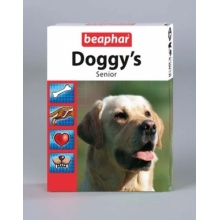 BEAPHAR Doggy's Senior витаминизированное лакомство для собак старше 7 лет ,75табл.
