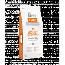Brit CARE Adult Medium Breed Lamb & Rice -гипоаллергенный cухой корм с ягнёнком и рисом для взрослых собак средних пород от 10 кг до 25 кг
