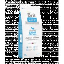Brit CARE Grain Free Junior Lardge Breed Salmon & Potato - беззерновой сухой корм с лососем и картофелем для щенков и молодых собак крупных пород от 25 кг