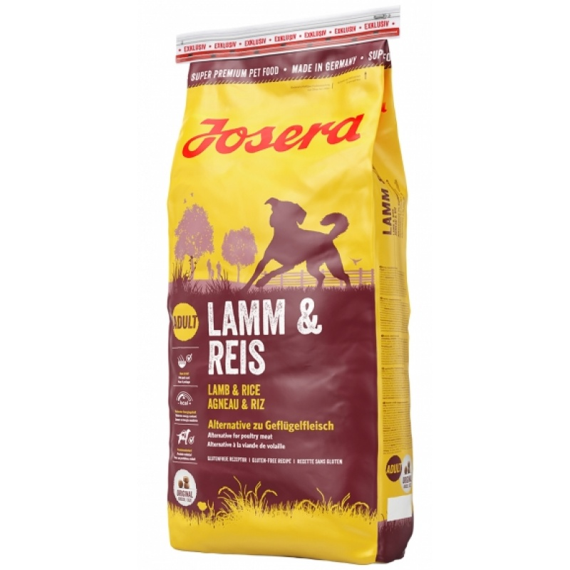 Josera Lamb & Rice - гипоаллергенный корм с мясом ягненка для взрослых собак