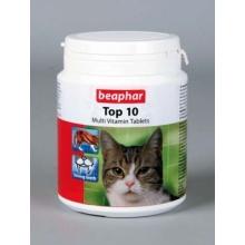 BEAPHAR Top 10 For Cats пищевая добавка для кошек, с таурином 180 табл.