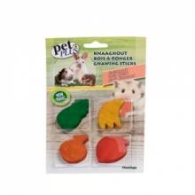 Karlie-Flamingo (Карли-Фламинго) FRUITS игрушка для грызунов для стачивания зубов, дерево, 4шт