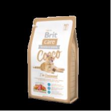 Brit Care Cat Cocco I'am Gourmand - высоко качественный гипоаллергенный беззерновой корм с мясом утки и лосося для привередливых кошек и кошек с чувствительным пищеварением