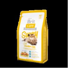 Brit Care Cat Sunny Ive Beautiful Hair - высококачественный гипоаллергенный корм с мясом лосося и рисом для взрослых кошек, шерсть которых требует дополнительного ухода
