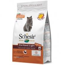 Schesir Cat Sterilized & Light ШЕЗИР СТЕРИЛИЗОВАННЫЕ ЛАЙТ КУРИЦА сухой монопротеиновый корм для стерилизованных кошек и кастрированных котов, для котов склонных к полноте