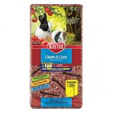 Kaytee Clean&Cozy Apple Клин&Кози ЧИСТО&УЮТНО ЯБЛОКО подстилка для грызунов, целлюлоза, с палочками для грызения в подарок, красная