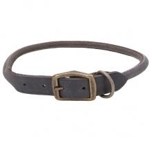 Coastal Circle T круглый кожаный ошейник для собак, 1,2х50см