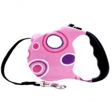 Fashion Walker рулетка-поводок для собак, розовая