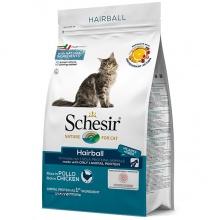 Schesir Cat Hairball ШЕЗИР ДЛЯ ВЫВЕДЕНИЯ ШЕРСТИ сухой монопротеиновый корм для котов с длинной шерстью