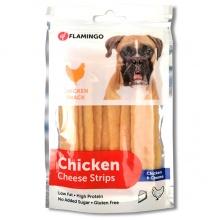 Flamingo Chicken Snack Cheese Strips ФЛАМИНГО ЧИКЕН ЧИЗ СТРИПС полоски с сыром, лакомство для собак