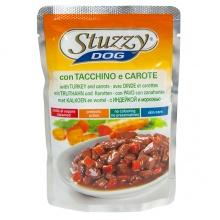 STUZZY Dog Turkey Carrot ШТУЗИ ИНДЕЙКА И МОРКОВЬ в соусе корм для собак, пауч, 100г