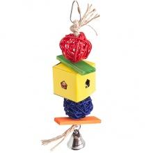 Flamingo Papyr Parakeet Toy Cube Small ФЛАМИНГО ПАПИР ПАРАКИТ плетеная подвесная игрушка для средних и крупных попугаев