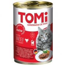 TOMi beef ГОВЯДИНА консервы для котов, влажный корм