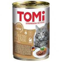 TOMi poultry liver ПТИЦА ПЕЧЕНЬ консервы для котов, влажный корм