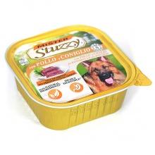 MISTER STUZZY Dog Chicken Rabbit (Pollo e Coniglio) МИСТЕР ШТУЗИ КУРИЦА КРОЛИК корм для собак, паштет, 300г