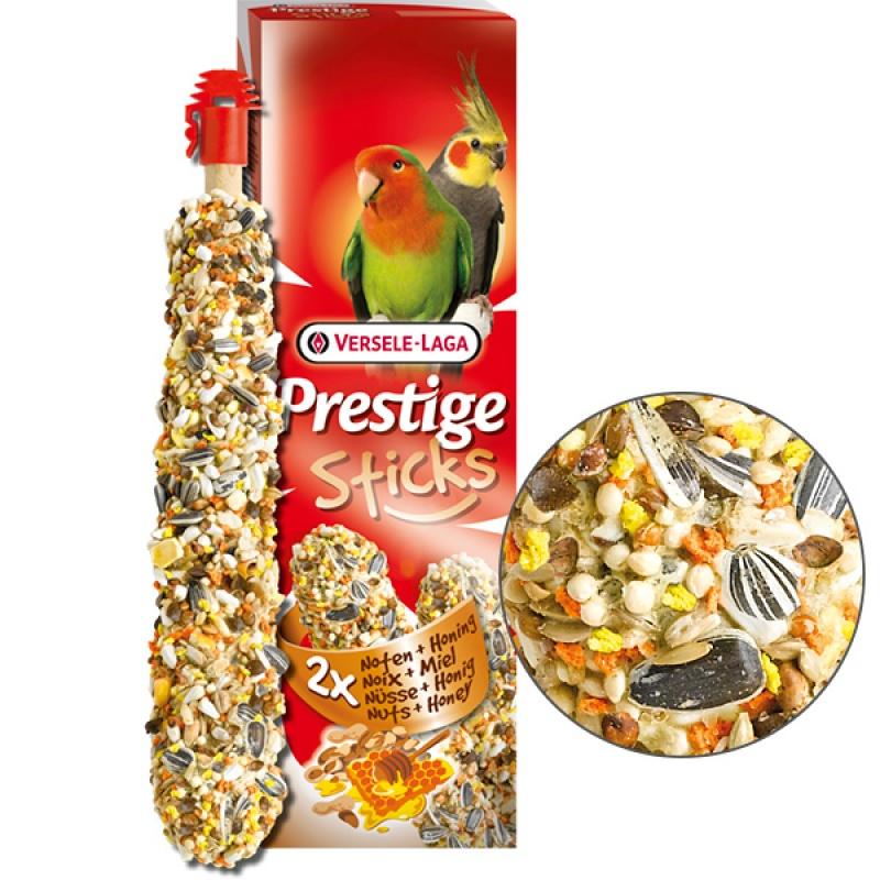 Versele-Laga Prestige Sticks Big Parakeets Nuts & Honey ВЕРСЕЛЕ-ЛАГА ОРЕХИ С МЕДОМ лакомство для средних попугаев