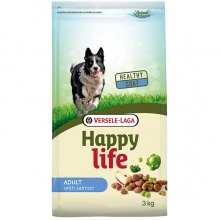 Happy Life Adult Salmon сухой корм с лососем для собак всех пород