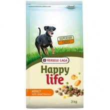 Happy Life Adult Beef сухой корм с говядиной для взослых собак всех пород