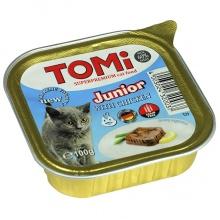 TOMi junior ТОМИ СУПЕРПРЕМИУМ ДЛЯ КОТЯТ консервы с курицей, паштет