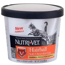 Nutri-Vet Hairball НУТРИ-ВЕТ ВЫВЕДЕНИЕ ШЕРСТИ витаминный комплекс для шерсти котов, таблетки 85 г