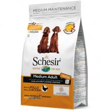Schesir Dog Medium Adult Chicken ШЕЗИР ВЗРОСЛЫЙ СРЕДНИХ КУРИЦА сухой монопротеиновый корм для собак средних пород