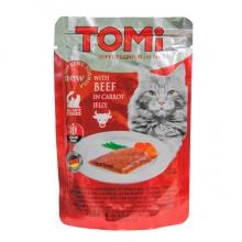 TOMi BEEF in carrot jelly ТОМИ ГОВЯДИНА В МОРКОВНОМ ЖЕЛЕ суперпремиум влажный корм, консервы для кошек, пауч