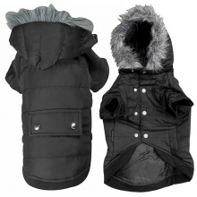 Flamingo Polar Black ФЛАМИНГО ПОЛАР одежда для собак, куртка с капюшоном, черный