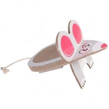 Flamingo Mouse Scratching Board ФЛАМИНГО МАУС когтеточка для котов, наклонная, гофрокартон, 45х29х29см