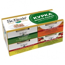 Schesir КУРИЦА МОНТЕ-КАРЛО натуральные консервы для собак, набор