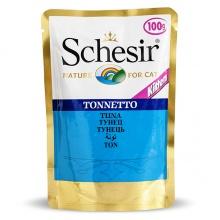 Schesir ТУНЕЦ ДЛЯ КОТЯТ (Tuna Kitten) влажный корм консервы для котят, пауч