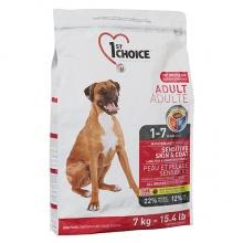 1st Choice Adult Sensitive Skin & Coat с ягненком и океанической рыбой корм для взрослых собак