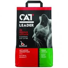 Cat Leader Clumping 2xOdour Attack Fresh КЭТ ЛИДЕР ДВОЙНАЯ СВЕЖЕСТЬ ультракомкующийся наполнитель в кошачий туалет