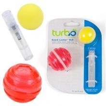 Coastal Turbo Scent Locker Ball КОСТАЛ ТУРБО СЕНТ ЛОКЕР БОЛЛ игрушка для котов, мяч круглый красный, комплект, с кошачьей мятой