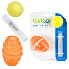 Coastal Turbo Scent Locker Football КОСТАЛ ТУРБО СЕНТ ЛОКЕР ФУТБОЛ игрушка для котов, мяч овальный оранжевый, комплект, с кошачьей мятой