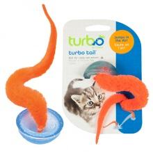 Coastal Turbo Tail Pop Up КОСТАЛ ТУРБО ТЕЙЛ ХВОСТ интерактивная игрушка для котов, прыгающая, оранжевый хвост в полусфере