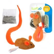 Coastal Turbo Tail Mouse Catnip КОСТАЛ ТУРБО ТЕЙЛ МЫШКА интерактивная игрушка для котов, оранжевый хвост, кошачья мята, ткань