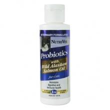 Nutri-Vet Probiotics Salmon Oil НУТРИ-ВЕТ ПРОБИОТИКИ С МАСЛОМ ЛОСОСЯ добавка для кошек, 118 мл