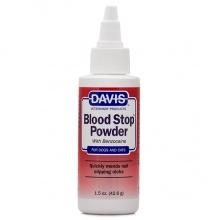 Davis Blood Stop Powder ДЭВИС БЛАД СТОП кровоостанавливающий порошок с бензокаином для собак и котов 43г