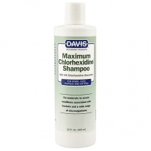 Davis Maximum Chlorhexidine Shampoo ДЭВИС МАКСИМУМ ХЛОРГЕКСИДИН шампунь с 4% хлоргексидином для собак и котов заболеваниями кожи и шерсти